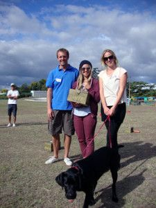 Sophie James was leading female at the Smite NZ Championships. Rather embarrassingly, I took out the title of NZ Champion. Molly (the Labrador) helped with the prize giving.
