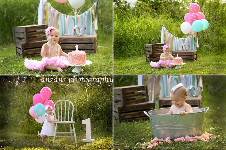 We also do outdoor one year old Birthday/Cake smash sessions ;Photos by Anzanz Photography