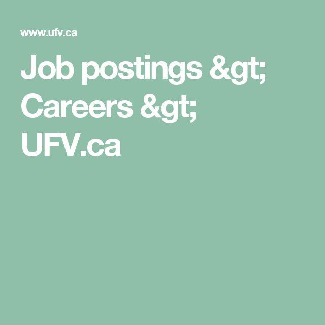 Job postings > Careers > UFV.ca
