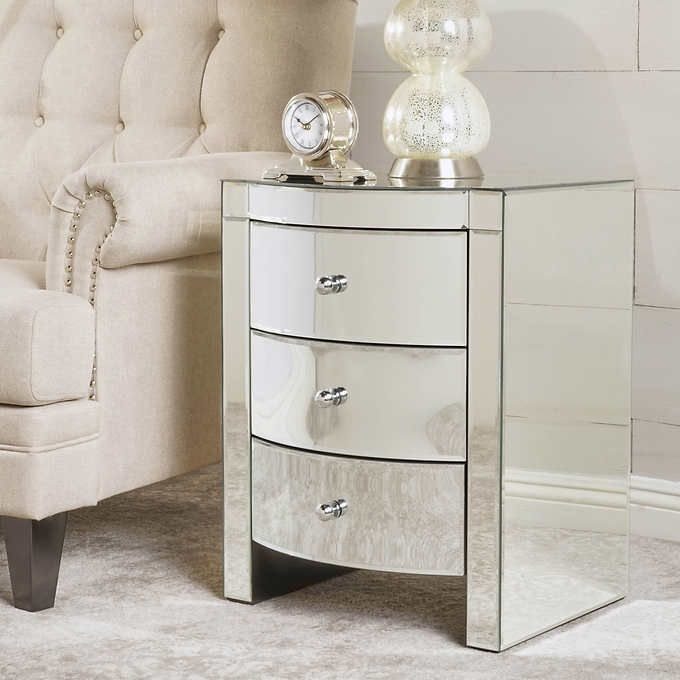 Alivia Mirrored End Table