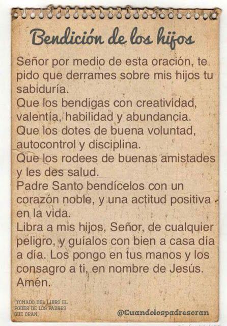 α JESUS NUESTRO SALVADOR Ω: Oración por los hijos, Señor derrama sabiduría sob...