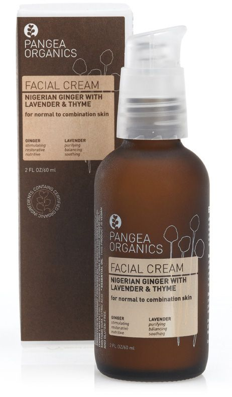Pangea Organics face cream enriched with naturally derived ingredients.