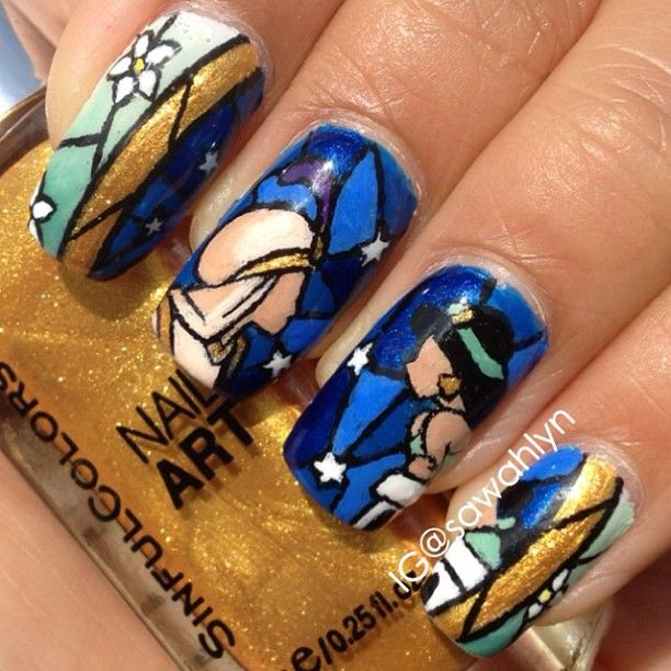 Princess Jasmine Nails: 17+ Images About Love To Wear Disney On Pinterest