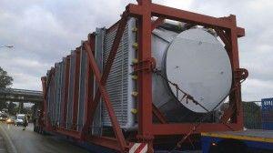 Maniobra de Montaje de una Nueva Caldera en las instalaciones de REPSOL (LA CORUÑA)