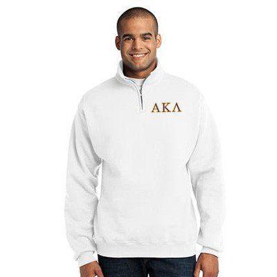 Alpha Kappa Lambda Fraternity Embroidered Quarter-Zip Pullover - Jerzees 995M - EMB