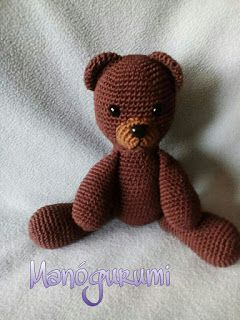 Classic crochet teddy bear - crochet toy
