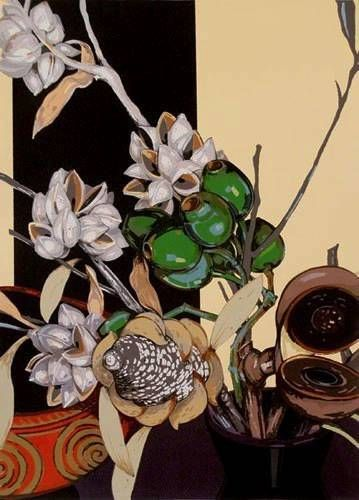 """Criss Canning  """"Hakea and Other Seed Pods""""   90 x 64 cm"""
