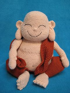 Laughing Buddha Amigurumi Monk Doll by Millionbells