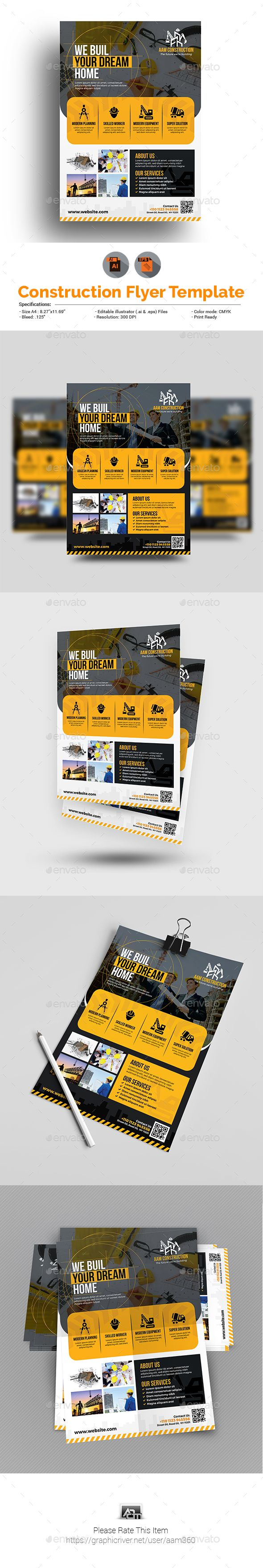 Construction Business Flyer Template - Corporate Flyers