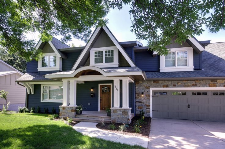 Navy Blue With Brick Exterior The Future Miller Home