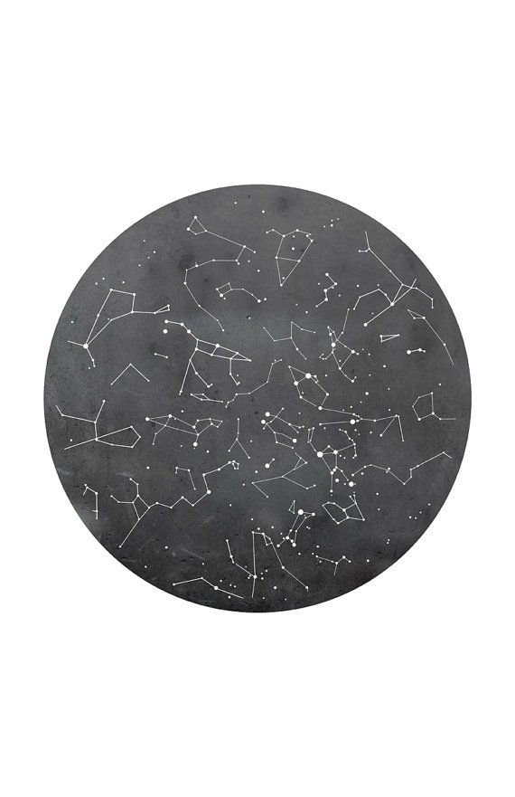 Poster Print of Constellation Map