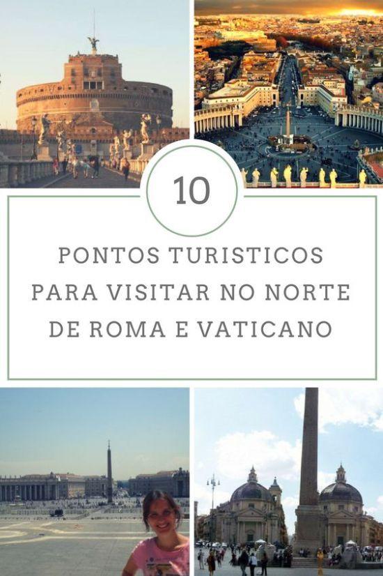 """Novo roteiro para você não se perder por Roma e Vaticano. Neste post, mostro 10 locais que dá para visitar em 1 dia na parte """"norte"""" de Roma."""