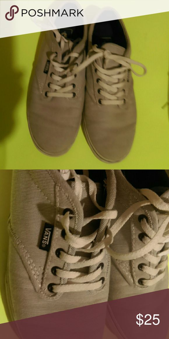Striped Vans Gently used...cute...comfy...buy...machine washed n minor bleached.  Hi Vans Shoes Athletic Shoes