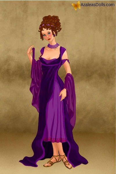 Arabella en vestido romano