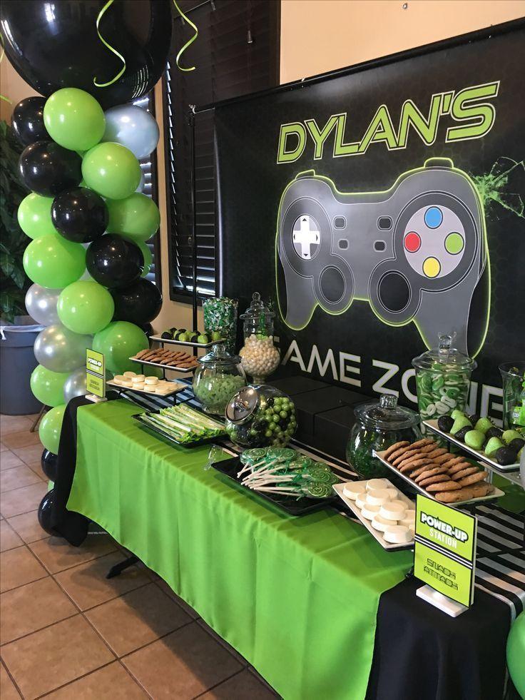 Gaming Bday Blog 023 Team Whitaker Video Games Birthday Party Xbox Birthday Party Party Themes For Boys