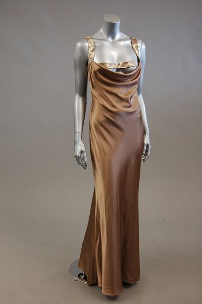 1930s dress draped neckline - no source info on original pin - vintage or contemporary dress in 1930's style?