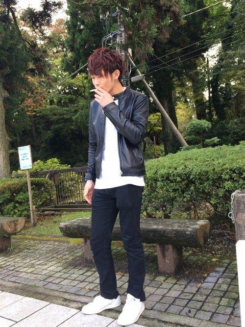 Yoshihiko ライダースジャケット「HARE ラムレザーシングルライダース(HARE)」Styling looks