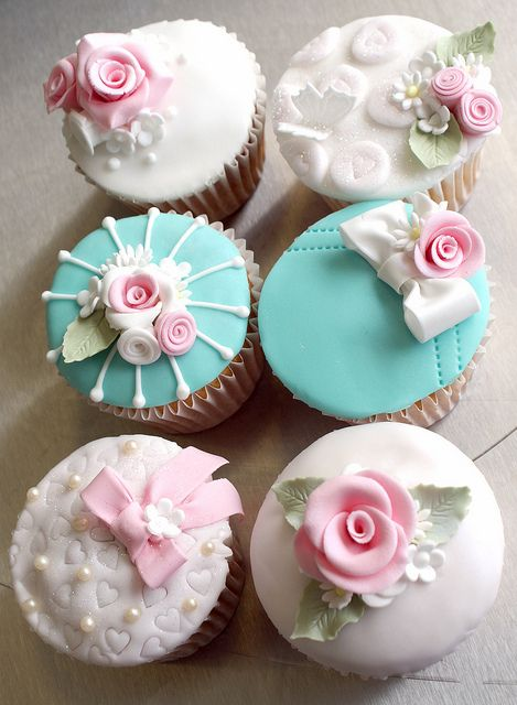 Royally iced cupcakes.