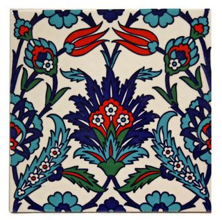Turkish Painted Square Tile