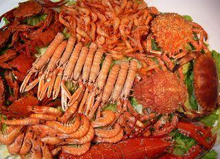 Mariscada, comida típica de banquetes de celebración en España, cocina gallega