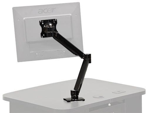 The C900S monitor arm enables a full range of motion and ensures a high degree of monitor stability. Simple and easy to install and use, C900S is ideal for lecterns, podiums, desks and AV carts.