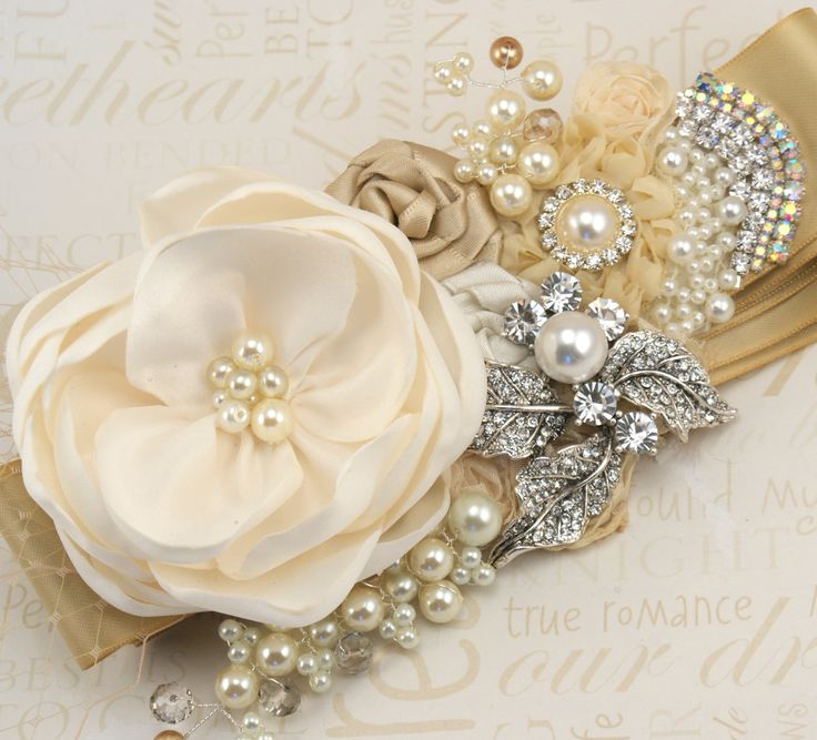 Wedding dress sash...add a special touch with a piece of lace from your grandmother/ a broach from your mom/ a loved one that's paced.  It's a great way to incorporate sentimental value=)
