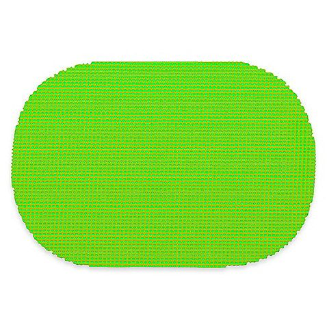 Kraftware™ Fishnet Oval Placemats in Lime Green (Set of 12)