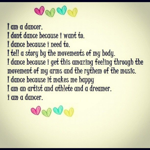 I am a dancer!