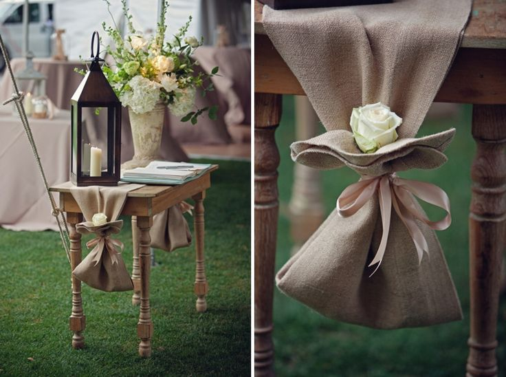 like the way they put the flower and tied this table runner for possibly the pie table