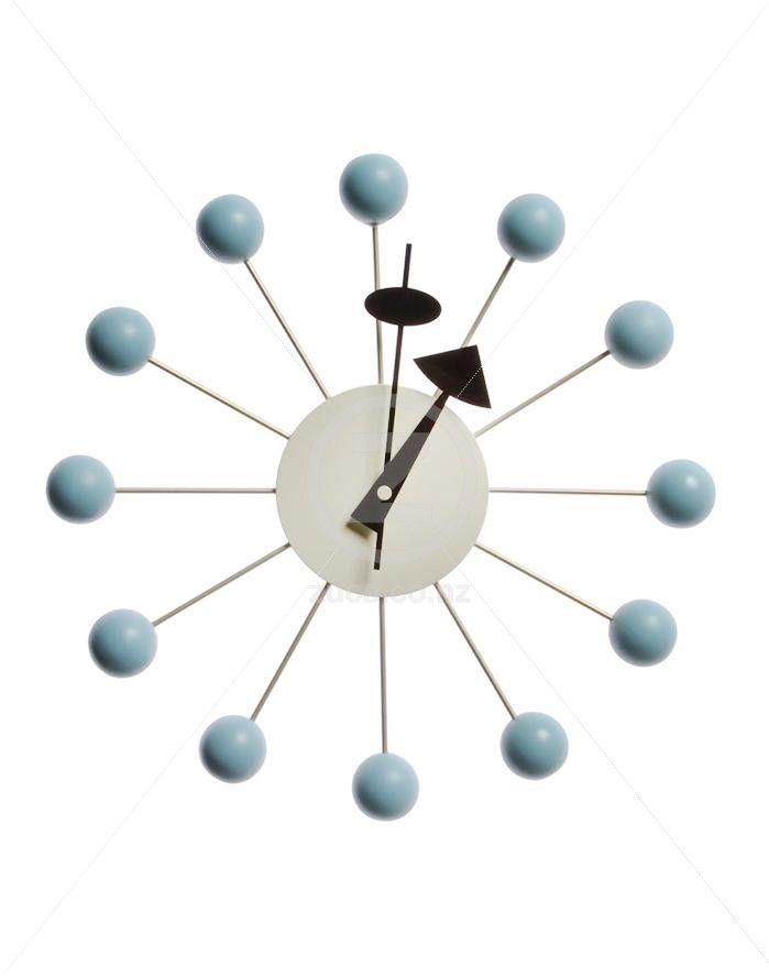 Replica George Nelson Ball Wall Clock - Blue | ZUCA | Homeware, Chairs, Replica…