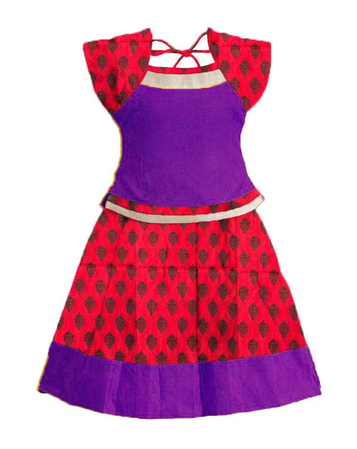 #readymadePattupavadai #kidspattupavadai Pink with violet Pattupavadai