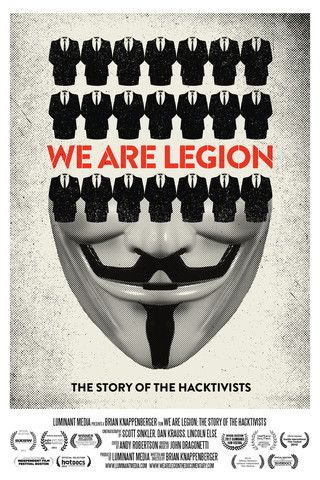 """Anonymous...  Angered by issues as diverse as copyright abuse and police brutality, they've taken on child pornographers, the Bay Area Rapid Transit system and even forced a standoff with Mexican drug cartels.  They've hit corporate targets... shut down Mastercard, Visa and Paypal after those groups froze financial transactions to Wikileaks.  ...the Arab Spring.  ...Occupy movement ...""""ultra coordinated motherfuckery."""" So who is Anonymous? We  Are Legion"""