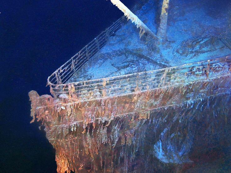 """Foto del pecio hundido del Titanic.  Imagen de """"drenar el Titanic"""" en National Geographic Channel [Foto del día - mayo 2015]"""