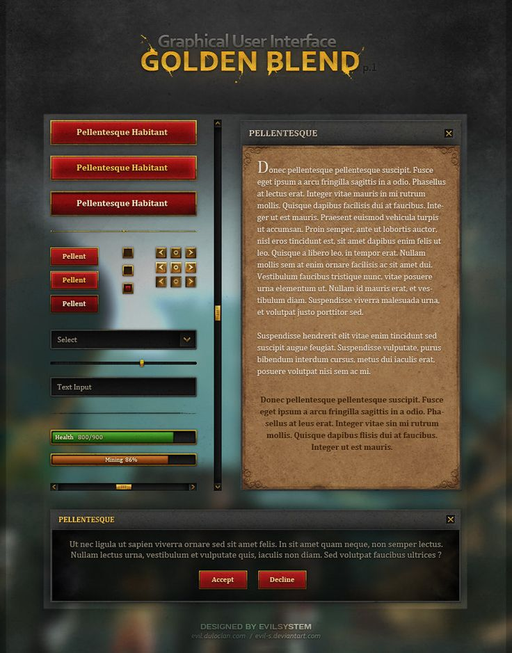 Golden Blend GUI by Evil-S on DeviantArt