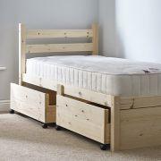 Somerset 3ft Single STORAGE Pine Bed Frame