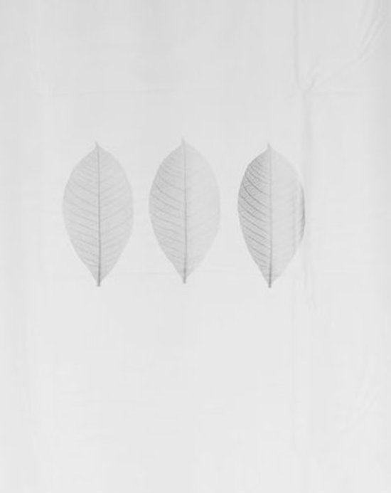 78 Inch Long Shower Curtain Fabric | Three Leaf Silver Shower Curtain