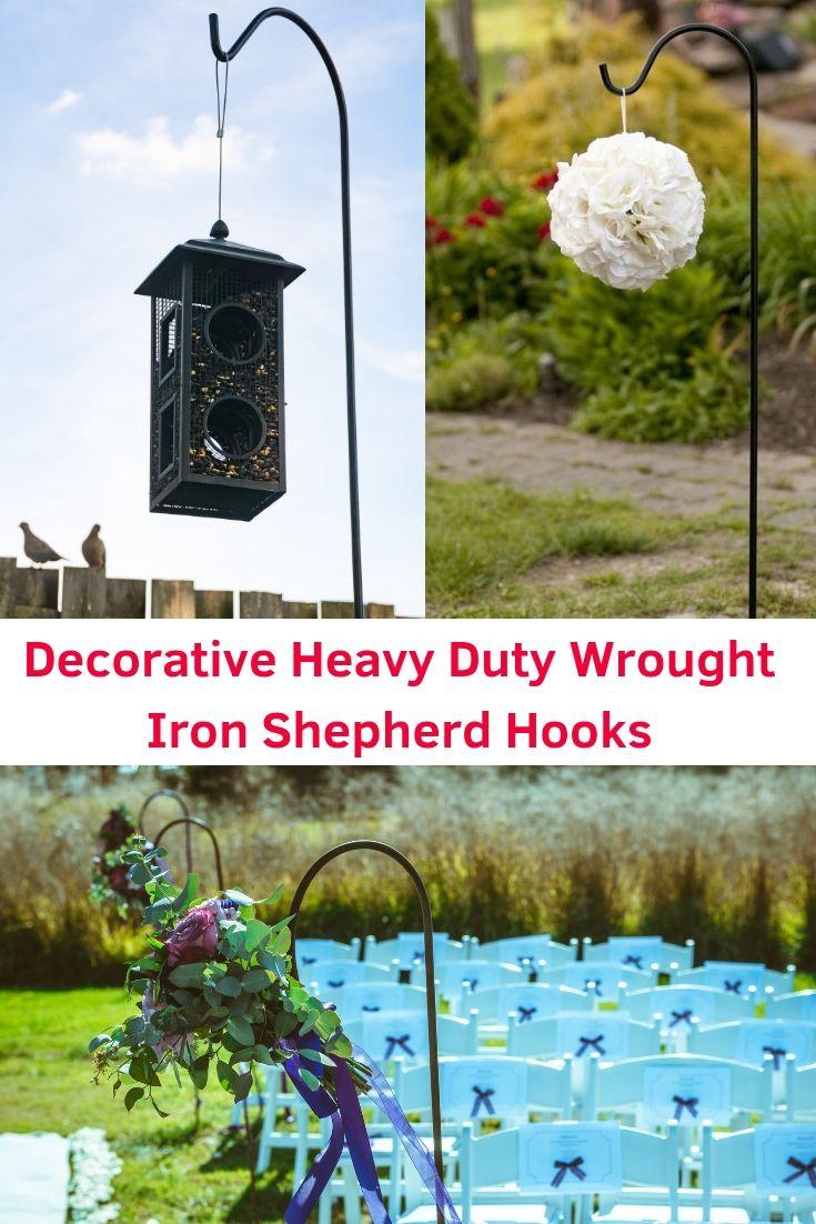 Heavy Duty Decorative Garden Shepherd Hooks Whimsical Garden