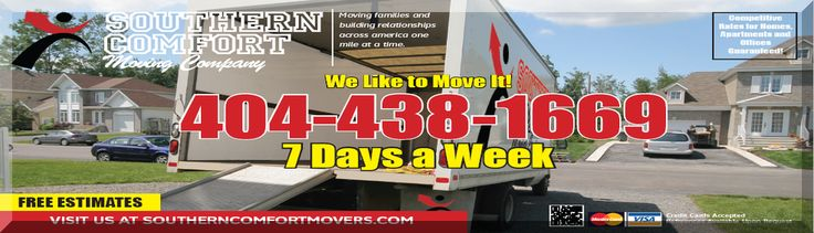 Atlanta Movers | Southern Comfort Movers 404-438-1669 | Moving Atlanta: Southern Comfort Moving & Packing  404-438-1669  * Over 25 Years Of Industry Experience * Bonded & Insured * Residential & Commercial * Local & Nationwide Moving * Phone Calls Taken 24 Hours / 7 Days A Week
