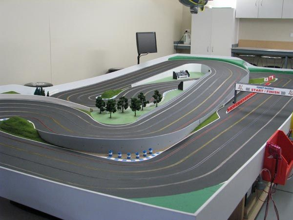 wood routed slot car track photos Google Search Slot