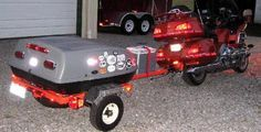 How to build a Tow Behind Motorcycle Trailer | Pull Behind Motorcycle Trailers