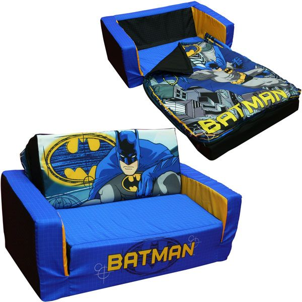 Batman toddler flip sofa toddlers sofas and batman for Sofa cama pequeno conforama