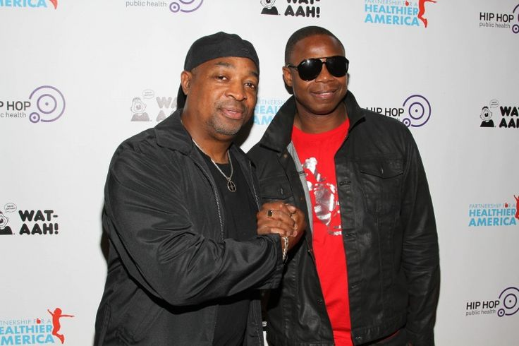 Rhyming for health. Hip-hop legends Chuck D and Doug E. Fresh attend the 2013 kickoff event for Songs For A Healthier America�on Sept. 30 in New York�