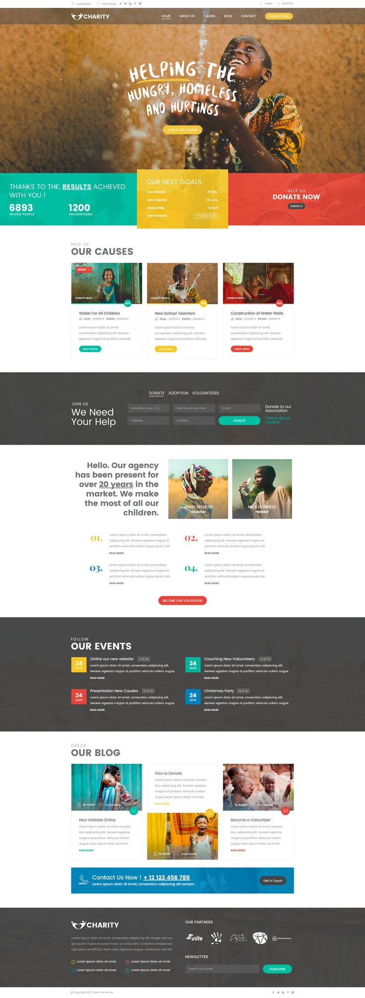 Charity Foundation - Charity Hub PSD Template #Refugee #social #volunteer • Download ➝ https://themeforest.net/item/charity-foundation-charity-hub-psd-template/19640689?ref=pxcr