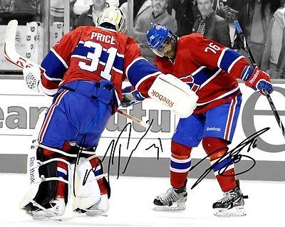 Carey Price PK Subban Montreal Canadiens Signed 8x10