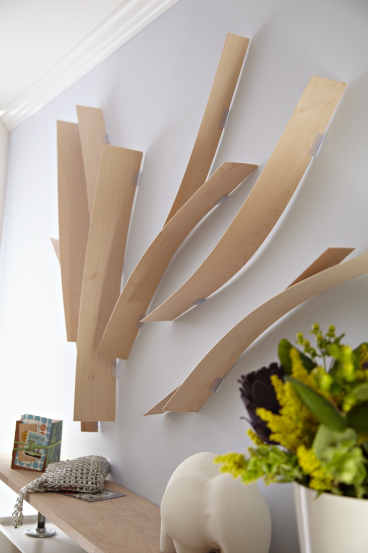 meandering veneer strips