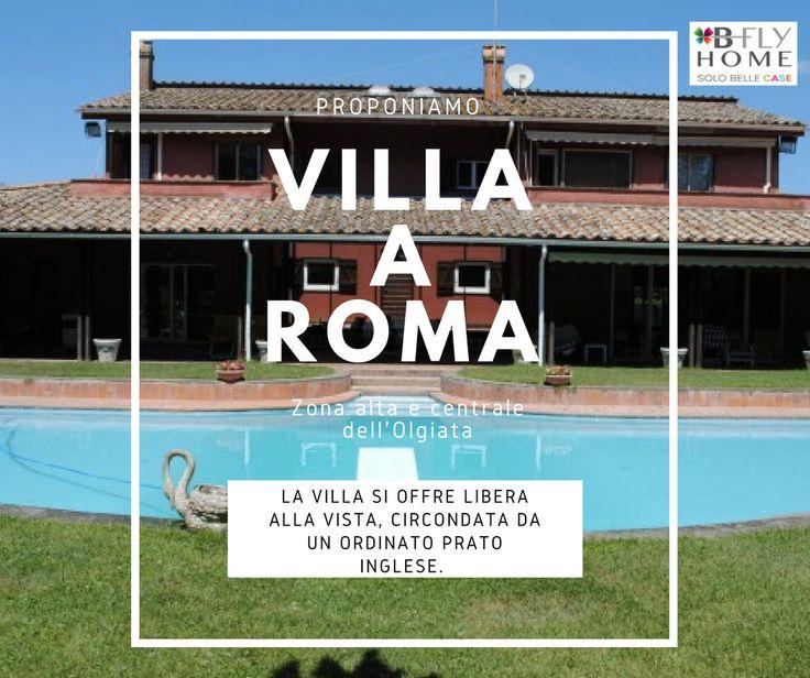 Proponiamo a Roma, nella zona alta e centrale dell'Olgiata, villa di 700mq interni con 3000mq di giardino opera dell'architetto Giulio Savio. Elegante, articolata, con delle ampie vetrate ed una torre ottagonale. In vendita a €1.490.000.