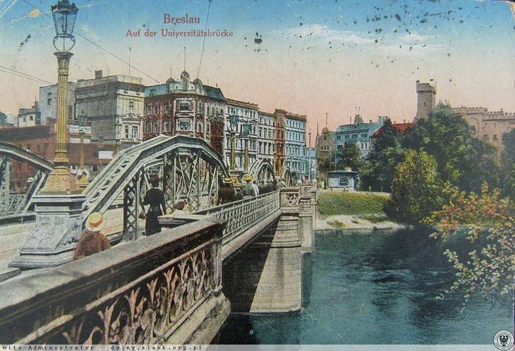 Dawny Most Uniwersytecki.Widok w stronę ul.Drobnera.Rok 1913