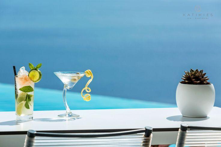 Katikies Hotel | COOL summer drinks | Santorini, Greece