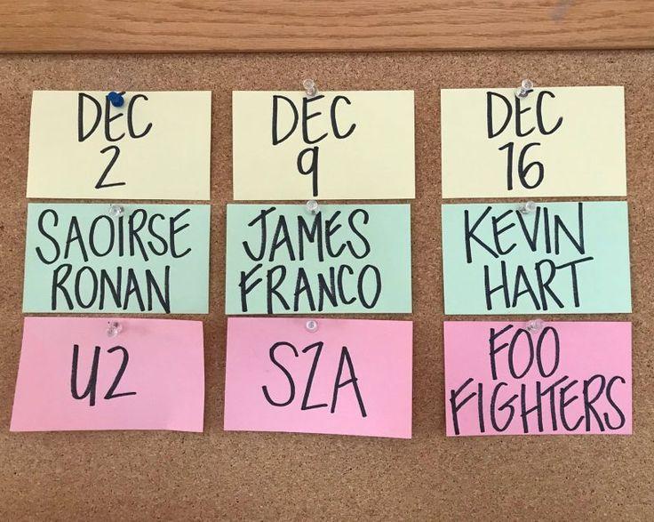 James Franco Kevin Hart and Saoirse Ronan to Host Saturday Night Live