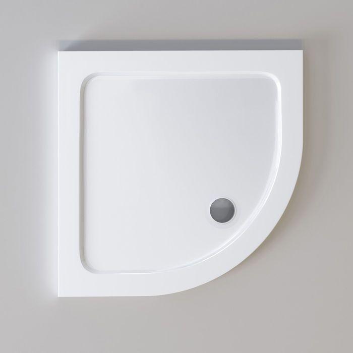 900x900mm Quadrant Ultra Slim Stone Shower Tray Goruntuler Ile